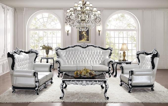 广东新古典家具-es013黑色钢琴漆沙发